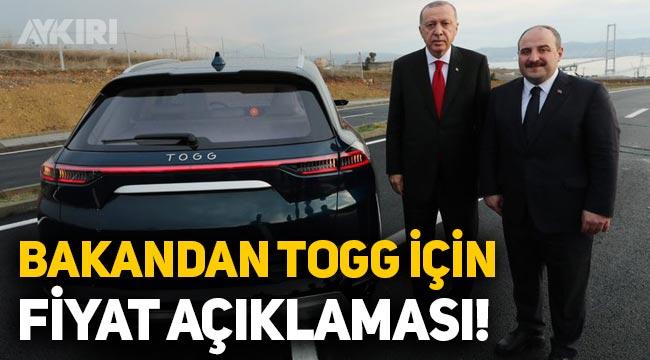 Yerli otomobil TOGG kaç lira olacak? Sanayi Bakanı Mustafa Varank'tan açıklama