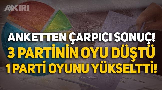 Anket: Millet İttifakı, Cumhur İttifakı'nı geçti, 3 partinin oyu düştü!