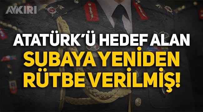 Atatürk'ü hedef alan subay, SADAT'la Harp Okulu mülakatlarına girmiş!