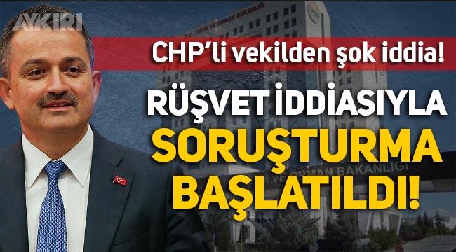 """CHP'li Aydın Özer: """"Tarım ve Orman Bakanlığı hakkında 'rüşvet' iddiasıyla soruşturma başlatıldı"""""""