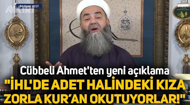 """Cübbeli Ahmet'ten yeni açıklama: """"İmam Hatiplerde adet halindeki kıza zorla Kur'an okutuyorlar!"""""""