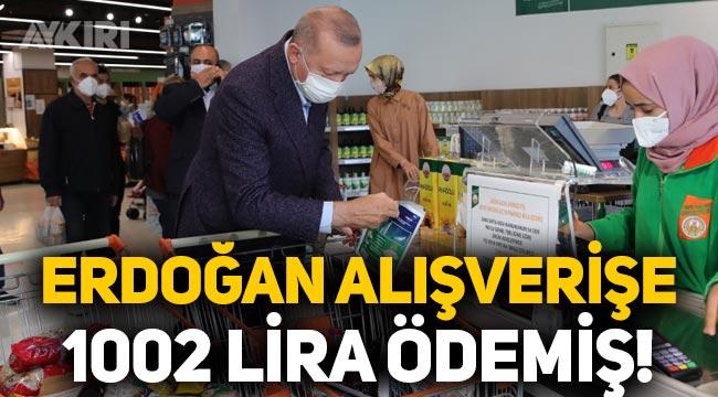 """Erdoğan, """"Fiyatlar gayet uygun"""" dediği market alışverişine 1002 lira ödemiş!"""