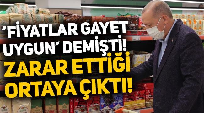 """Erdoğan'ın """"Fiyatlar gayet uygun"""" dediği marketin zarar ettiği ortaya çıktı!"""