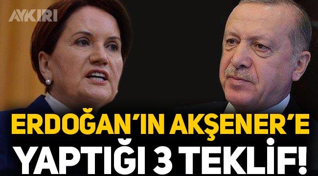 Erdoğan'ın Meral Akşener'e yaptığı 3 teklif