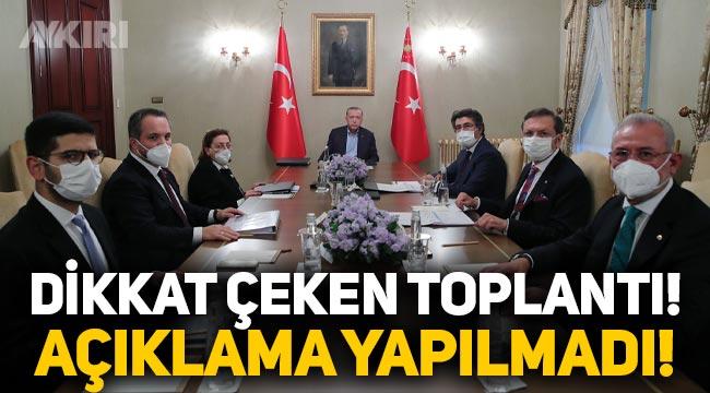 Erdoğan, Varlık Fonu yönetimiyle toplandı, açıklama yapılmadı!
