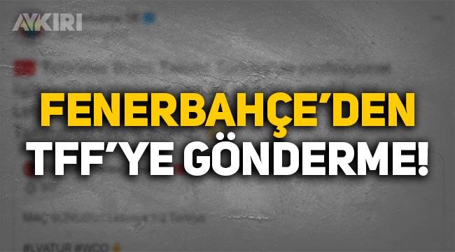 Fenerbahçe'den TFF'ye Milli Takım'ın Letonya maçı üzerinden gönderme