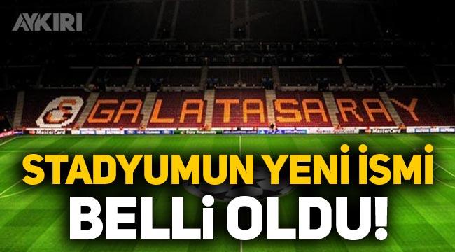 Galatasaray stadyumunun yeni adı ne oldu? Galatasaray'ın yeni sponsoru belli oldu!