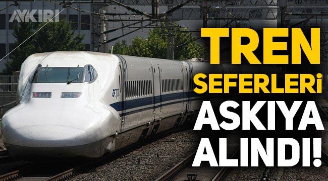 Japonya'da hızlı tren seferleri askıya alındı