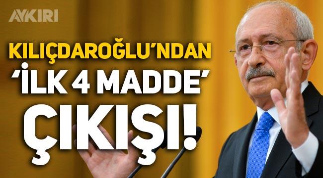 """Kemal Kılıçdaroğlu'ndan """"Anayasanın ilk 4 maddesi"""" çıkışı!"""