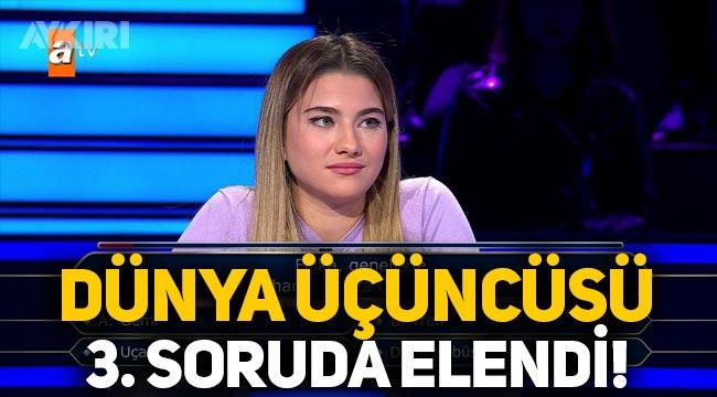Kim Milyoner Olmak İster yarışmasında dünya üçüncüsü Duygu Dilbaz, filika sorusunda elendi!