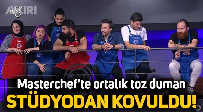 MasterChef Türkiye'de Mehmet Yalçınkaya, Safanur'u stüdyodan kovdu