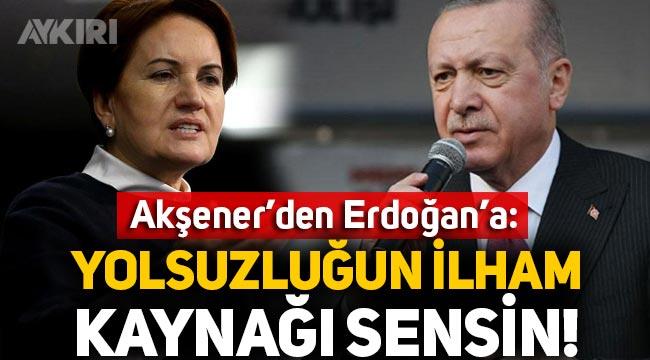 """Meral Akşener'den Erdoğan'a tepki: """"Yolsuzlukların ilham kaynağı bizzat sensin"""""""