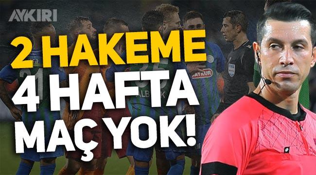 MHK'dan Rizespor-Galatasaray maçı sonrası Ali Palabıyık ve Abdülkadir Bitigen kararı!
