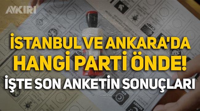 ORC anketi: Ankara ve İstanbul'da partilerin oy oranı belli oldu!