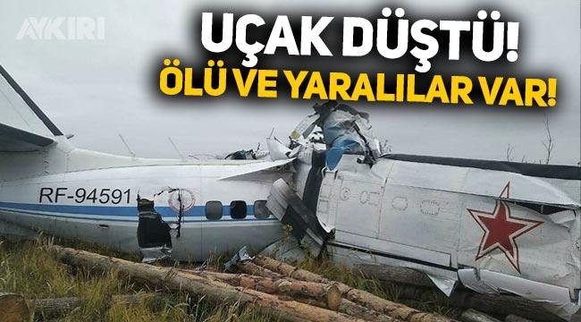 Rusya'da yolcu uçağı düştü: Ölü ve yaralılar var