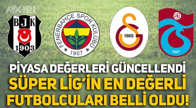 Süper Lig'in en değerli futbolcuları kim? Piyasa değeri en yüksek futbolcular belli oldu!