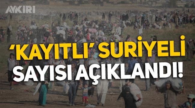 Türkiye'de kaç Suriyeli var? Göç İdaresi 'kayıtlı' Suriyeli sayısını açıkladı!