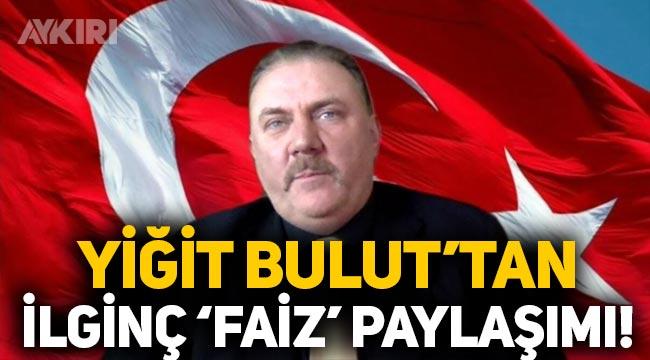 """Yiğit Bulut: """"Türkiye'nin faiz lobisi ile mücadelesi hız kesmeden devam edecek"""""""